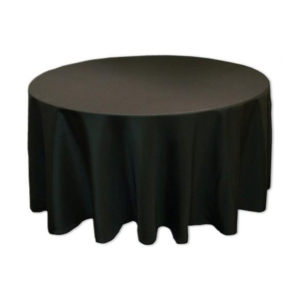 Tischdecke schwarz rund 275 cm