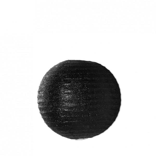 Lampion Glitzer schwarz