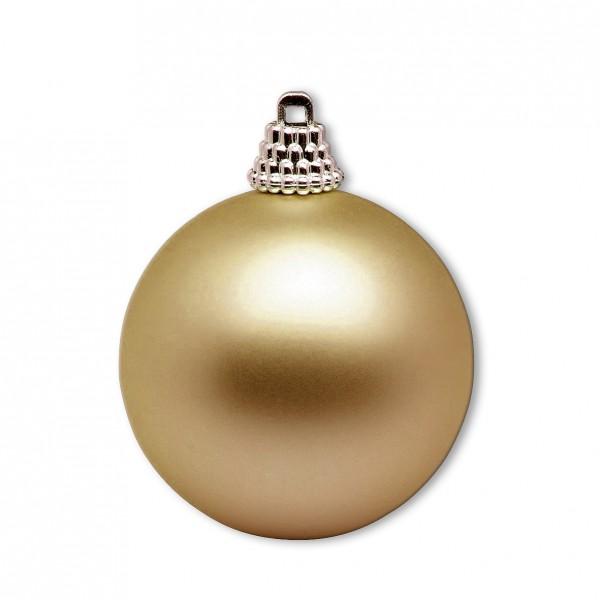 Weihnachtskugel gold matt