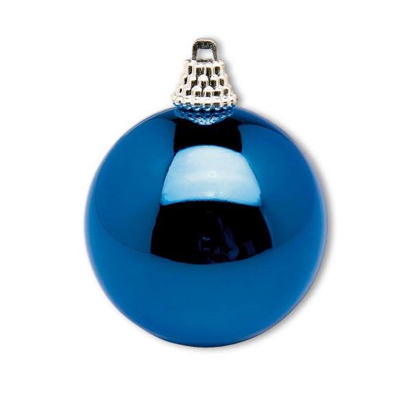 Weihnachtskugel blau glänzend