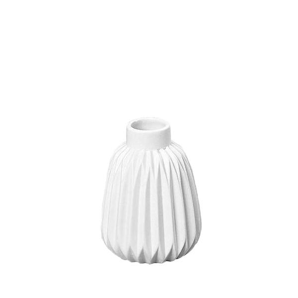 Vase Rille Porzellan matt - Style 2