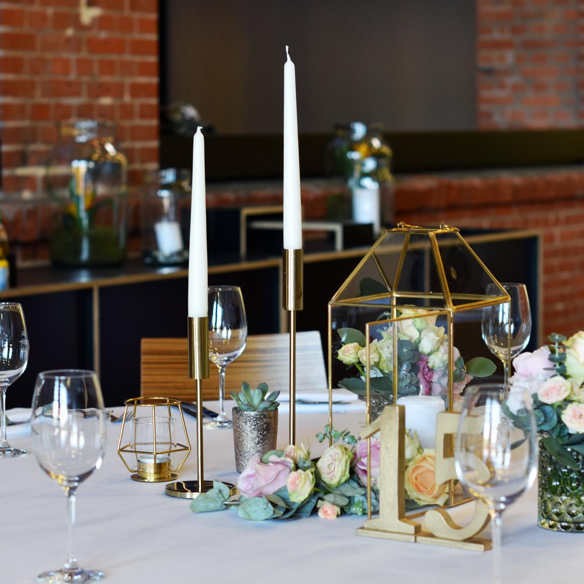 Kerzenständer 1-arm gold