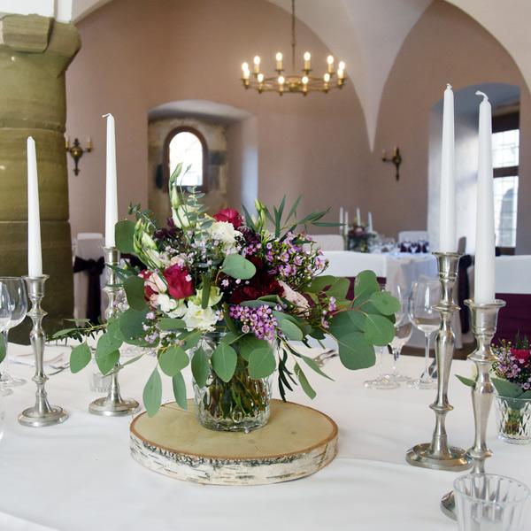 Kerzenständer 1-arm silber [mieten]