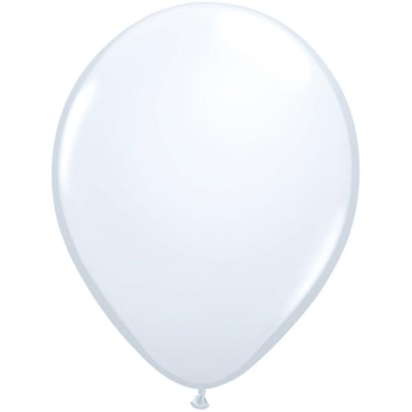 Helium-Luftballon 30cm weiss