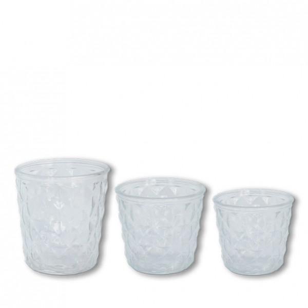 Vase konisch Kristall