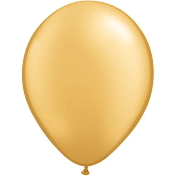 Helium-Luftballon 30cm gold