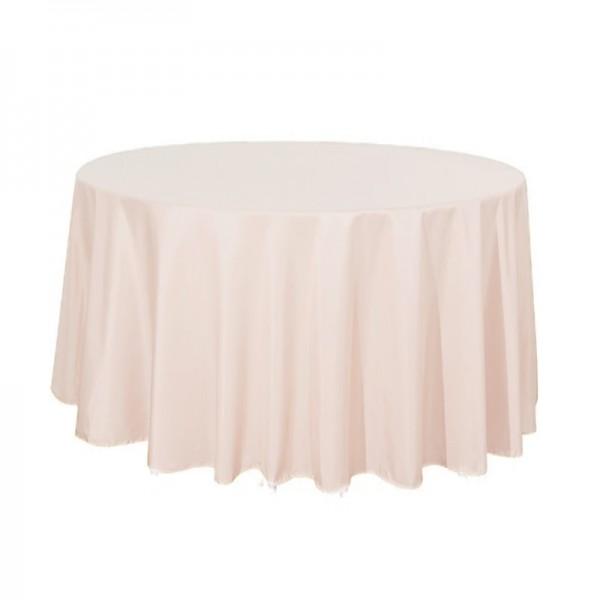 Tischdecke blush rose rund 275 cm