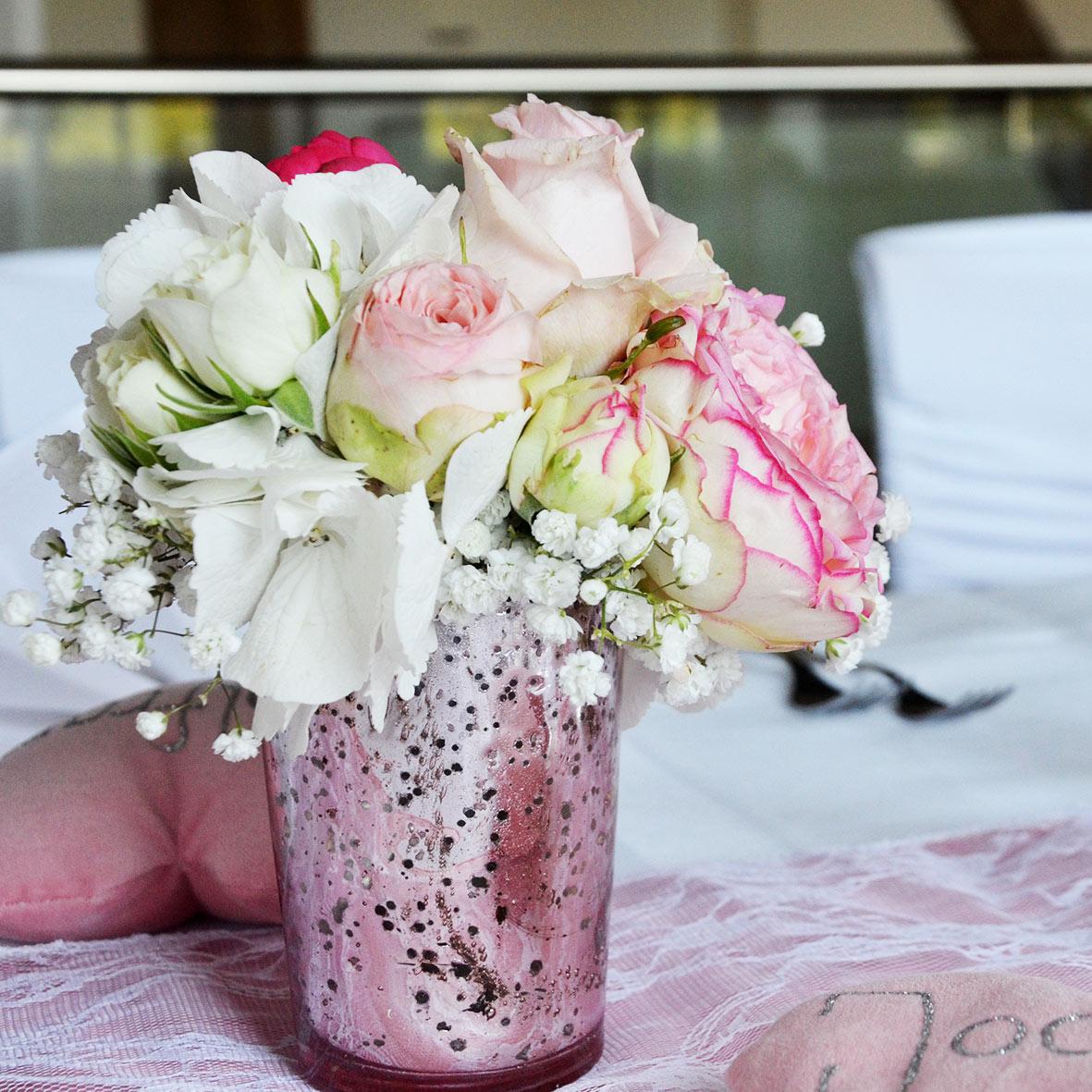 Vase Marmoriert rosa