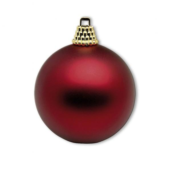 Weihnachskugel rot matt