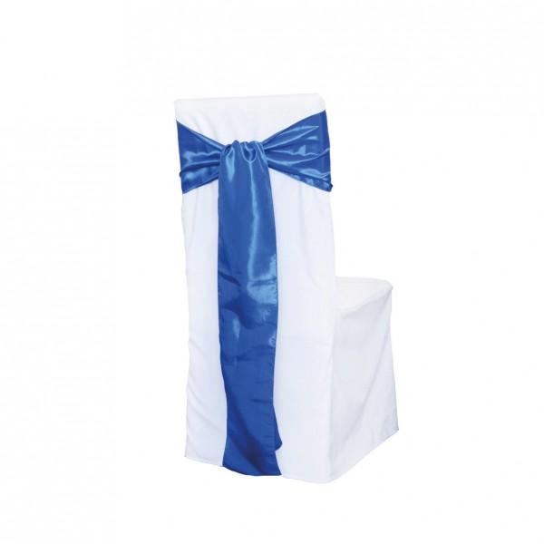 Schleifenband Taft / Satin Royalblau Muster