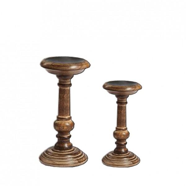 Kerzenständer 1-arm Holz