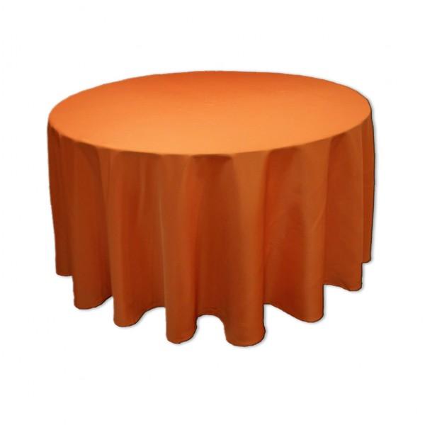 Tischdecke orange rund 275 cm