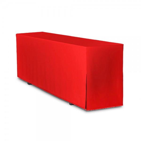 Biertischhusse rot 50x220 cm