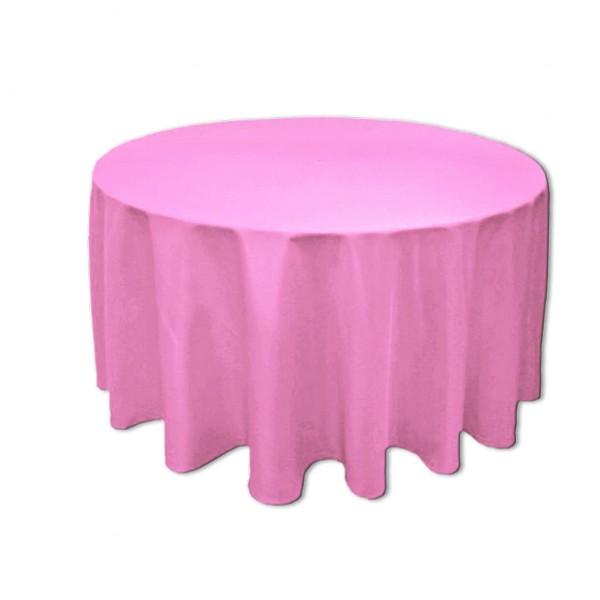 Tischdecke rosa rund 275 cm