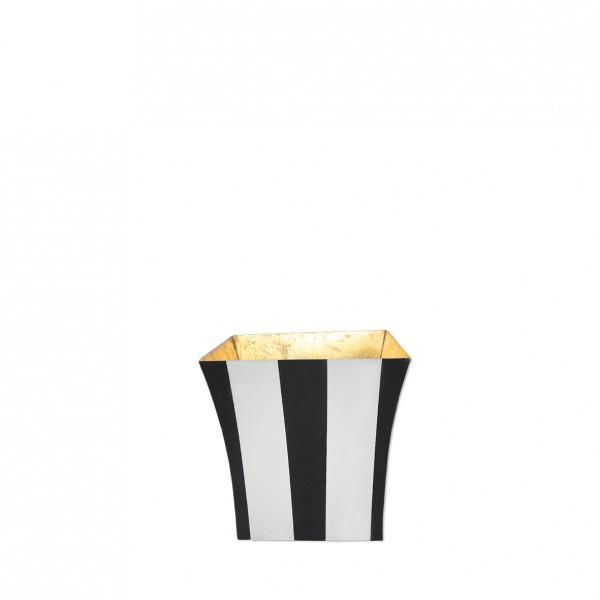 Vase Streifen schwarz weiß