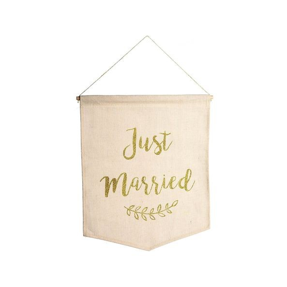 "Schild Wimpel ""Just married"" zum Hängen"