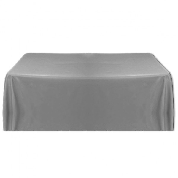 Tischdecke grau 150x260 cm