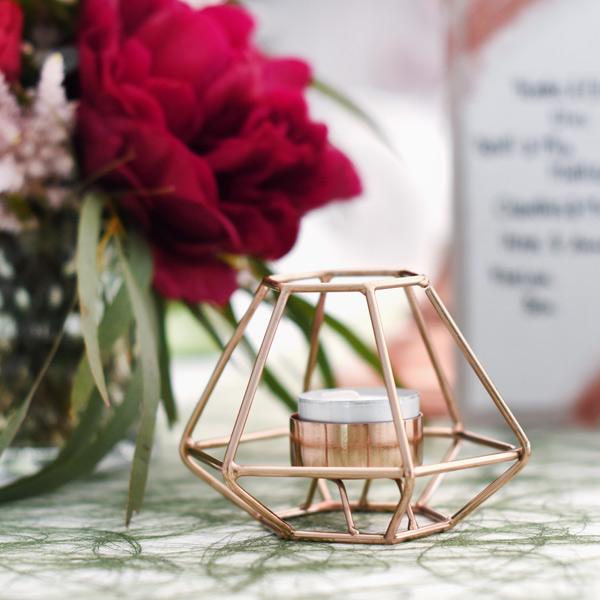 Teelichthalter geometrisch kupfer [mieten]