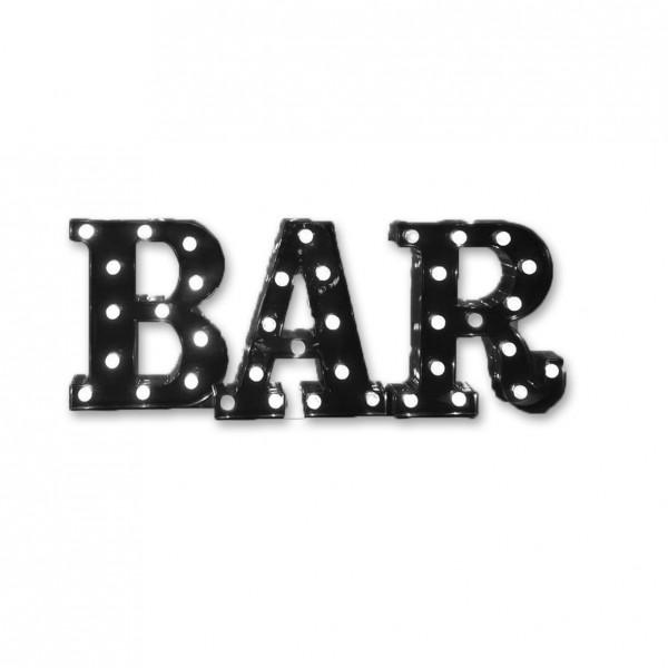 Schriftzug BAR LED