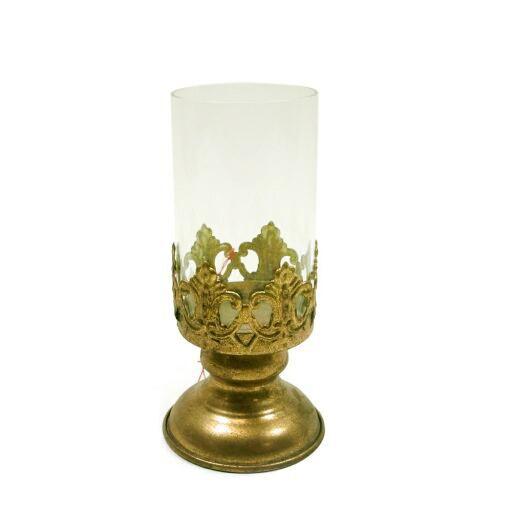 Windlicht antik gold