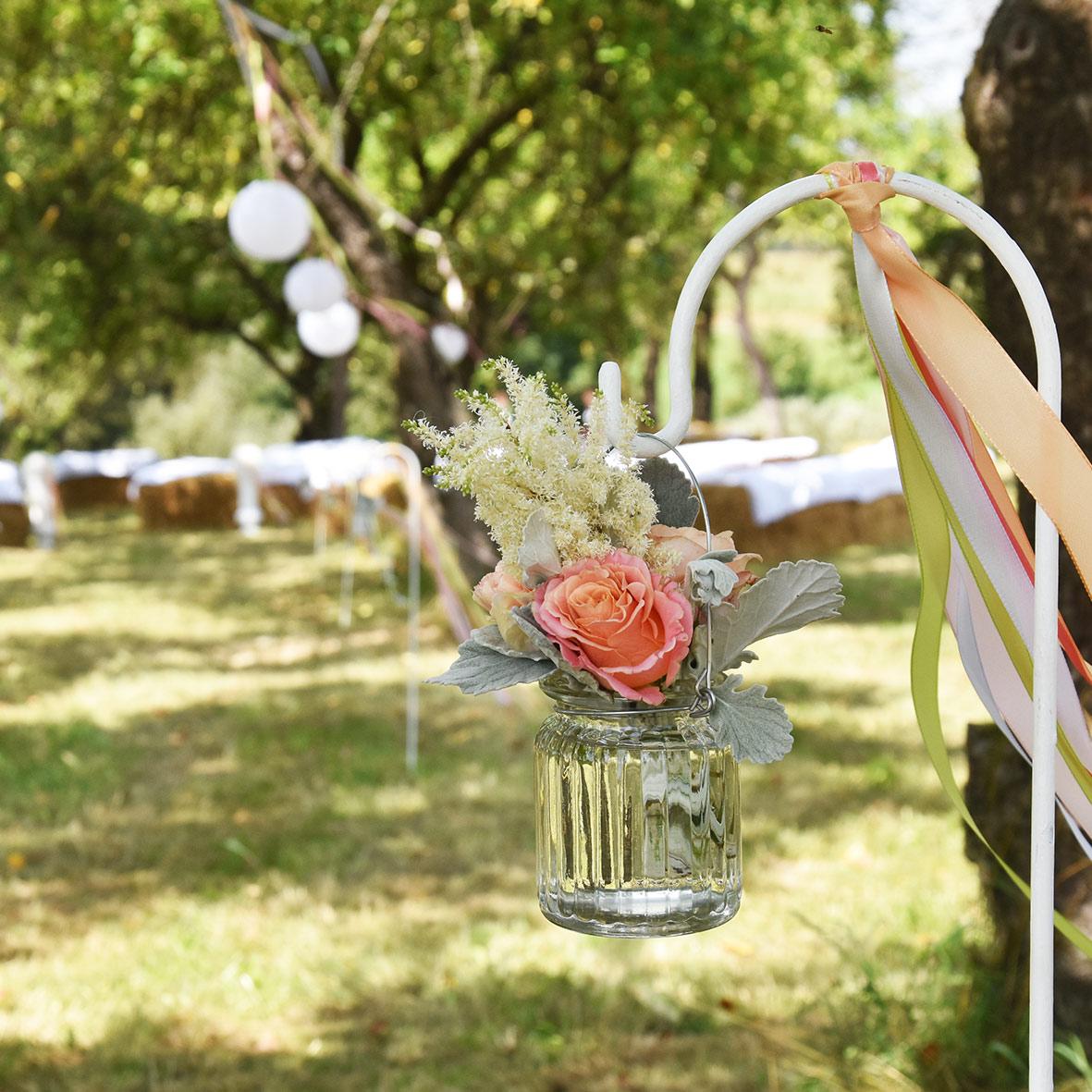 Vase Vintage Rille mit Henkel