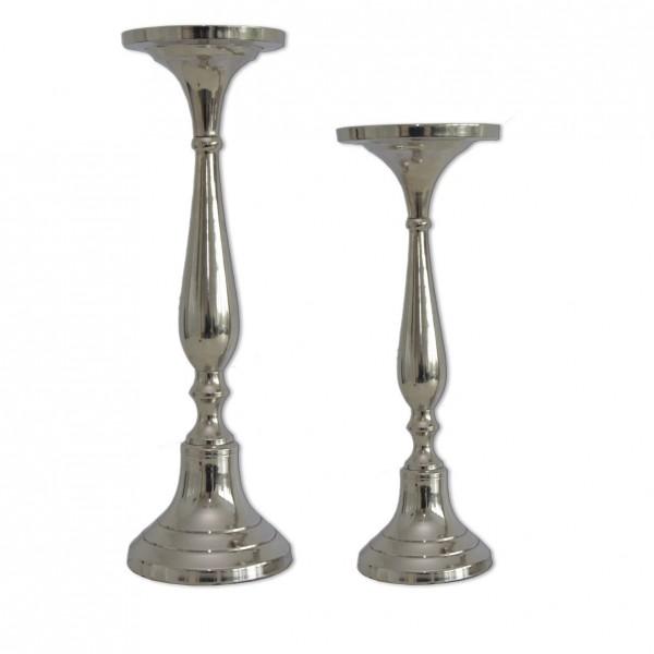 Kerzenständer | Kerzenhalter 1-arm silber hoch [mieten]