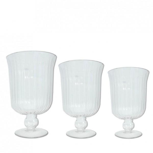 Vase Vintage Rille auf Fuß
