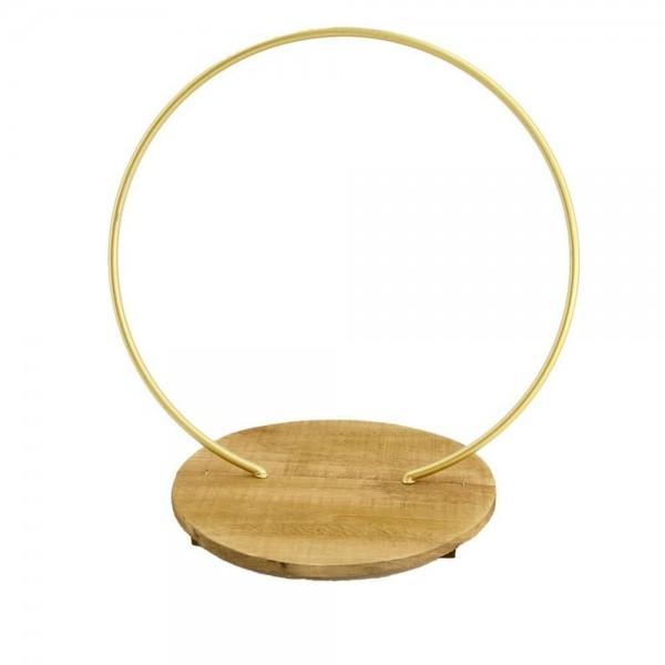 Hoop stehend mit Holzplatte