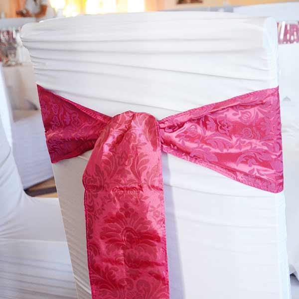 Schleifenband Ornamente pink