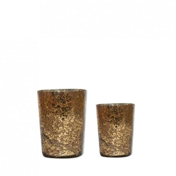 Vase Marmoriert gold