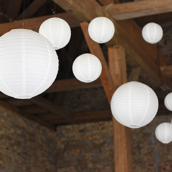 Lampion weiss