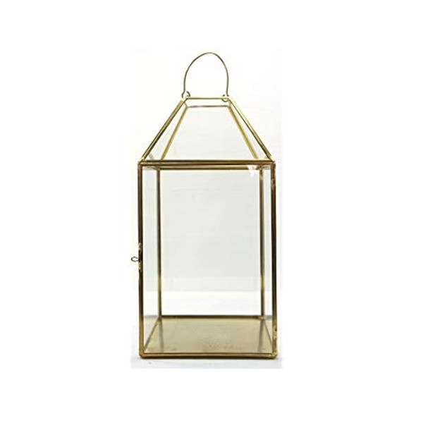 Laterne geometrisch gold