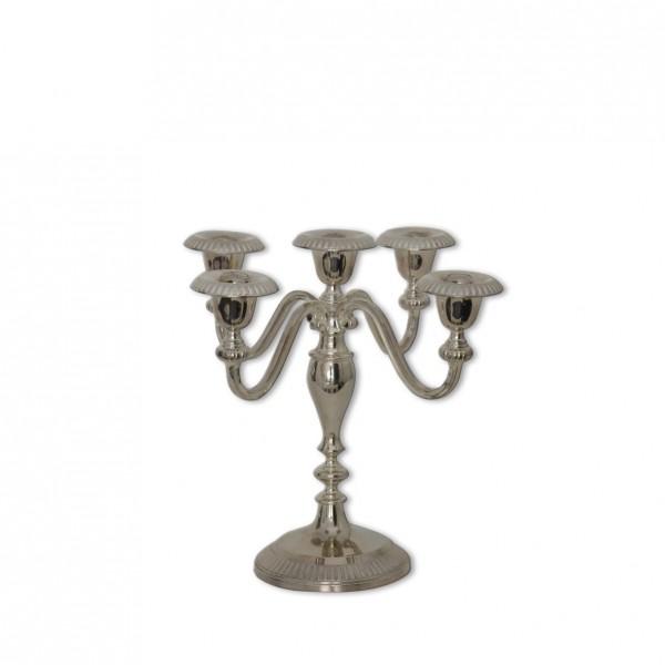 Kerzenständer 5-arm silber