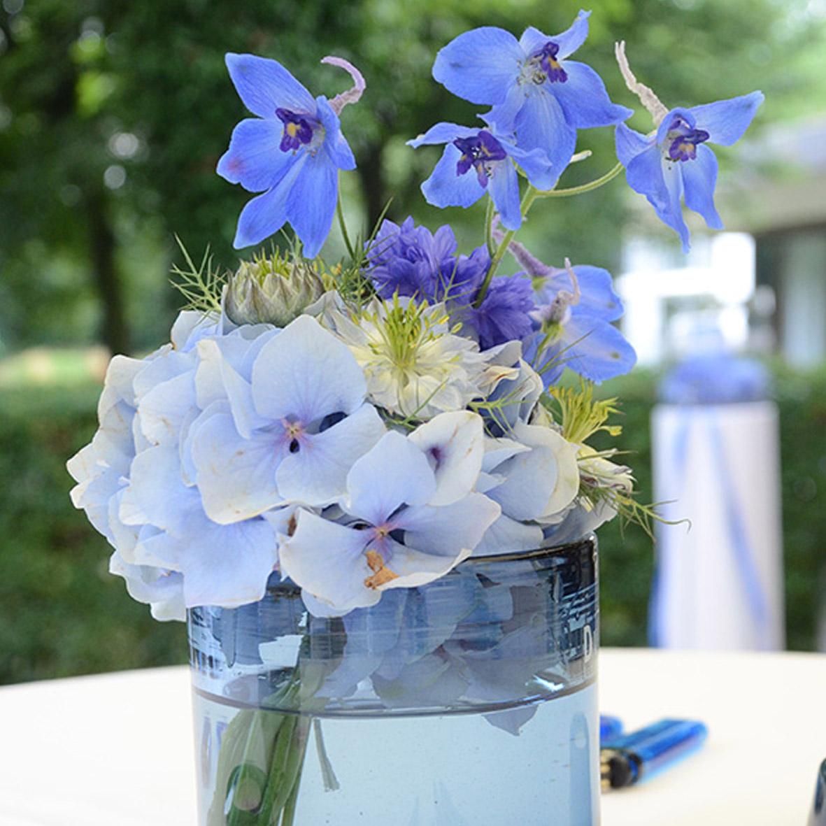 Vase Zylinder Blau