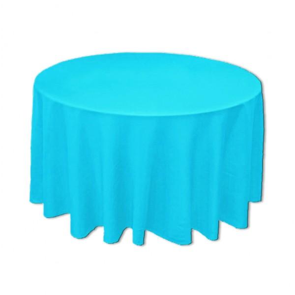 Tischdecke rund aqua