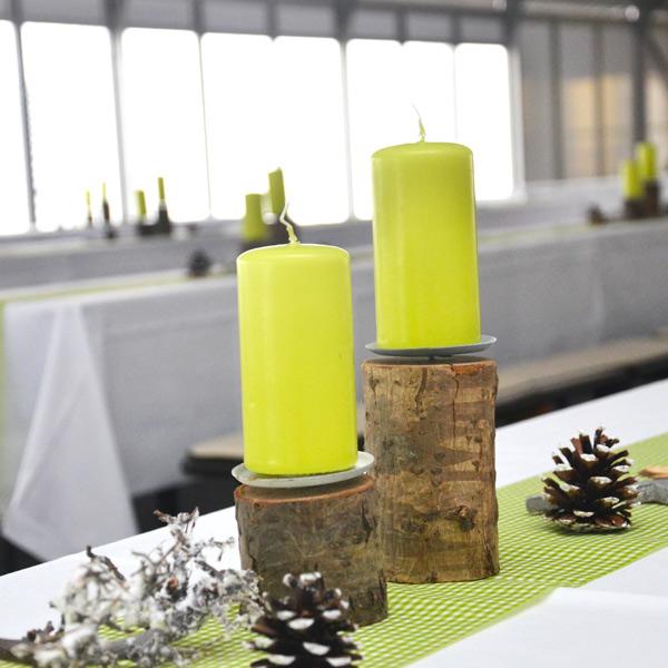 Kerzenständer 1-arm Birkenstamm