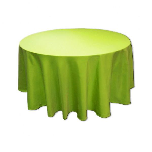 Tischdecke apfelgrün rund 275 cm