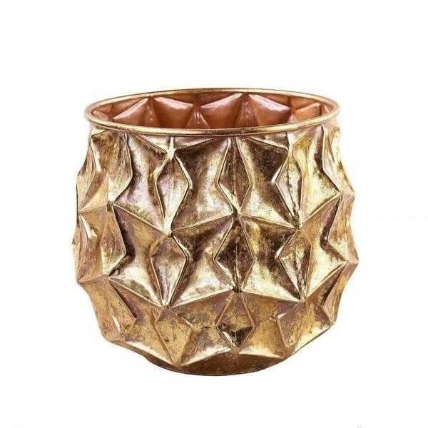 Schale Wabendesign gold [mieten]